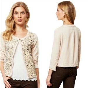Anthropologie Postmark Beaded Cardigan- XS